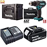 MAKITA 18V CORDLESS COMBI HAMMER DRILL COMPLETE PROFFESIONAL DHP456 KIT INCLUDING 1X 4.0 LXT HEAVY DUTY BATTERY. FAST CHARGER,LIMITED EDITION BLACK TYPE 2 MAKPAC CASE*