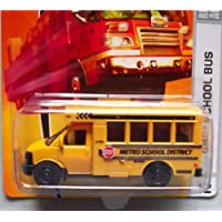 Matchbox City Action Gmc School Bus Yellow Detailed Diecast #42 Scale 1/64 Collector