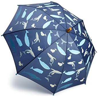 Hatley Boys 2-7 Whales Umbrella, Shipshape Navy, One Size