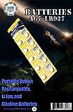 AOR Flashlights AG7 Battery, LR927 AG7 LR927 AG7 195, 395, LR926, SR926 G7 1.5V Alkaline Button Battery Cell (10pcs BATTERIES)