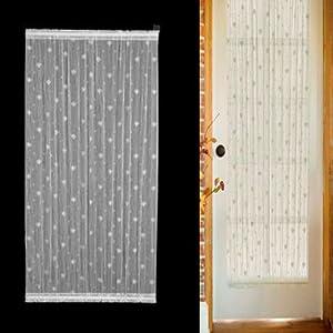 "Heritage Lace Bee Pattern Door Panel Curtain 45 x 72"" Ecru"