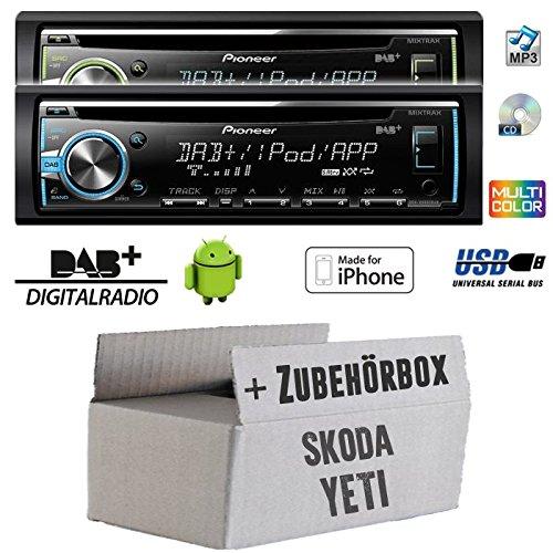 - 1 Pour skoda yeti pioneer dEH-x6800DAB dAB-cD/mP3/uSB avec inclus dAB et antenne