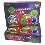 24 Light Up Led Multi Color Childrens Toy Jelly Spike Yoyo Balls
