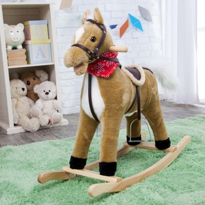 Charm Company Blonde Horse Rocker Moving Mouth & Tail Ride On - 1