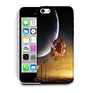 Snoogg Solar Earth Printed Protective Phone Back Case Cover For Apple Iphone 5C