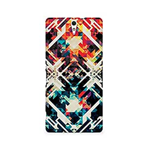 Motivatebox- Two Square Abstract Premium Printed Case For Sony Xperia C5 -Matte Polycarbonate 3D Hard case Mobile Cell Phone Protective BACK CASE COVER. Hard Shockproof Scratch-