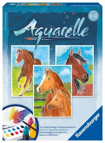 Imagen principal de Ravensburger Aquarelle Midi 29306 Caballos - Set de acuarelas con motivos para colorear (18 x 24 cm) [importado de Alemania]