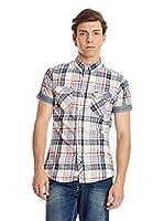 Lee Cooper Camisa Hombre Martock (Crudo / Azul)