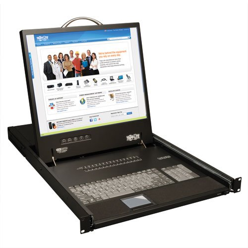 Tripp Lite B040-016-19 16 Port VGA KVM Console with 19 Inch LCD Monitor Keyboard Touchpad