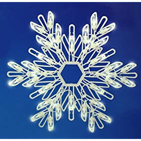 15&quot; LED Lighted Snowflake Christmas Window Decoration - Cool White Lights