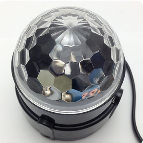 Dashuhuwai(Tm)Mini Stage Lighting Effect 3W Full Color Led Crystal Voice-Activated Rotating Rgb Stage Light Dj Disco Home Lamp Ac110V-240V