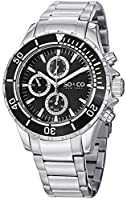 "SO&CO New York Men's 5038.1 ""Yacht Club"" Stainless Steel Watch with Triple-Link Bracelet by SO&CO MFG"