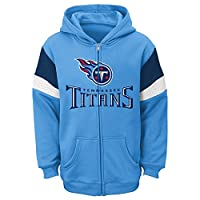 NFL Tennessee Titans Youth Full Zip Fleece Hoodie (Age 4-18) by Outerstuff/Adidas Licensed Youth Apparel