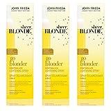 3 x John Frieda Sheer Blonde Go Blonder Controlled Lightening Spray 100ml