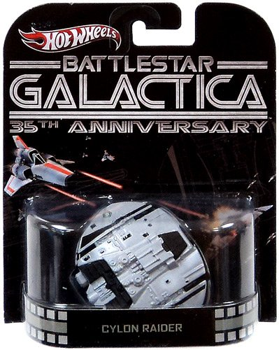Hot Wheels Retro Battlestar Galactica 35th Anniversary 1:64 Die Cast Vehicle Cylon Raider - 1