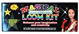 Magical Colorful Loom Kit, Includes Loom, Hook, Bands, Clips & Charms