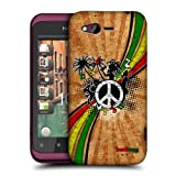 Head Case Designs Reggae Music Genre Hard Back Case Cover for HTC Rhyme