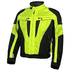 Olympia Airglide 4 Men's Mesh Tech On-Road Racing Motorcycle Jacket - Neon Yellow/Black / Medium