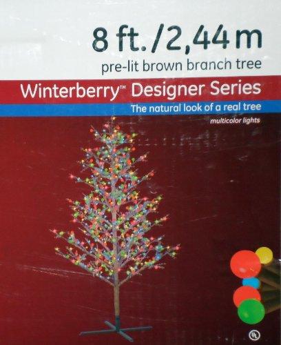 Ge 8 Ft Winterberry 95 Branch Tips 500 Pre Lit Energysmart