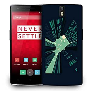 Snoogg Tall Buildings Designer Protective Back Case Cover For ONEPLUS ONE
