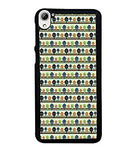 iFasho Animated Pattern colrful tribal design with small trees Back Case Cover for HTC Desire 826