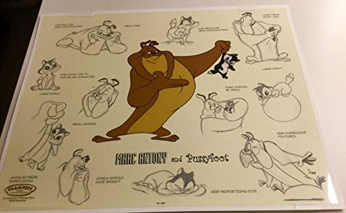 Warner Bros.Cel MARC ANTONY and PUSSYFOOT Model Sheet Rare Edition Number 1 cell (Model Sheet compare prices)
