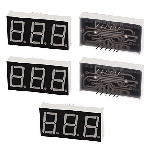 Uxcell a15111200ux0534 Double Row 12 Pin 7 Segments 3 Digits LED Numeric Display Module, 5 Piece, Blue (5 Digit Led Display compare prices)
