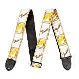 Fender 2 Monogrammed Strap White/Brown/Yellow