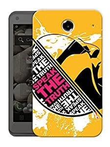 "Speak The Truth Printed Designer Mobile Back Cover For ""Lenovo S880"" By Humor Gang (3D, Matte Finish, Premium Quality, Protective Snap On Slim Hard Phone Case, Multi Color)"