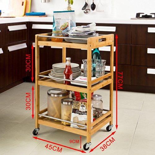 Sobuy carrito de cocina estanter a de cocina estanter a for Estanterias de bambu para bano