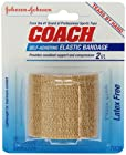 Johnson & Johnson Coach Self-Adhering Elastic Bandage 2 Inch x 2.2 Yards (Pack of 3)