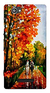 TrilMil Printed Designer Mobile Case Back Cover For Sony Xperia M