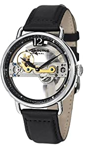"""Stuhrling Original Men's 465.33151 """"Symphony Aristocrat"""" Stainless Steel Automatic Watch with Leather Band"""