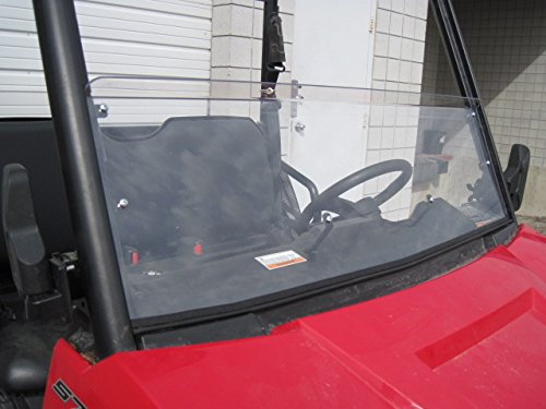 2015-MID-SIZE-POLARIS-RANGER-570-Scratch-Resistant-13-34-Tall-Half-Windshield-from-weld-on-rollbar-Tallest-on-the-market-easier-to-clean-WILL-NOT-FIT-RANGER-570900-Full-Size