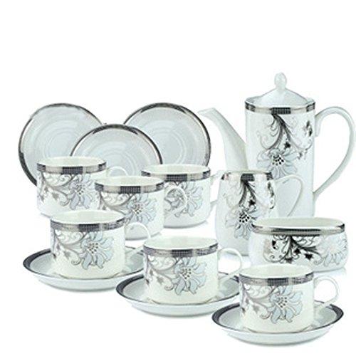 ufengkeFine White Bone China 15 Piece Porcelain Coffee Set Tea Set Tea Service (China Coffee Service compare prices)