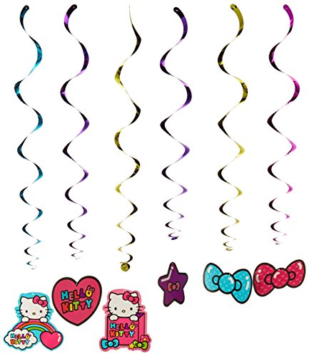 Hello-Kitty-Rainbow-Value-Pack-Foil-Swirl-Birthday-Party-Decoration-12-Pack-Multi-Color-10-x-96