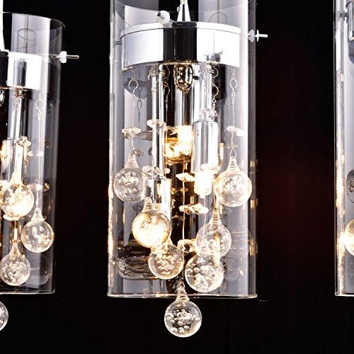 CLAXYR Ecopower Lighting Glass Amp Crystal Pendant Lighting