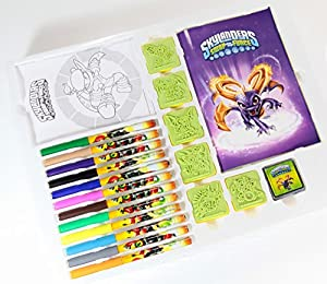 Skylanders Swap Force Stamps and Colouring Set, + 6 Stamp Pads, 12 Felt Pens, 2 Pictures and Colouring Book