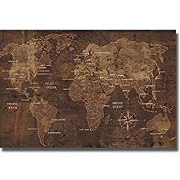 Artistic Home Gallery 2436572S The World By Luke Wilson Premium Stretched Canvas Wall Art