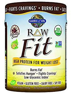 Garden of life raw fit protein powder chocolate 448 gram health personal care for Garden of life raw protein weight loss