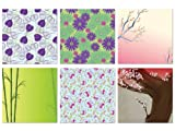 Forever In Time Scrapbook Paper Themed Pack Abstract Floral, 12-Inch x 12-Inch, 6 Per Package image