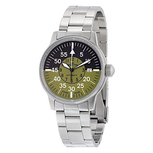 fortis-mens-5951116-m-flieger-cockpit-olive-analog-display-automatic-self-wind-silver-watch