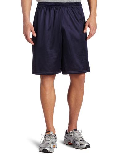Soffe Men's Long Polyester Mini-Mesh Short Navy  XX-Large