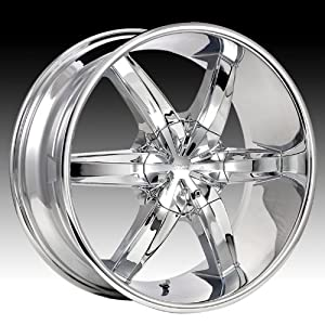 Cruiser Alloy Flash 17×7.5 Chrome Wheel / Rim 5×4.5 & 5×120 with a 42mm Offset and a 74.10 Hub Bore. Partnumber 909C-7755742