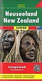 Nueva Zelanda, mapa de carreteras. Escala 1:700.000. Freytag & Berndt.