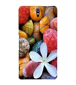 Vizagbeats Multi Color Pebbles Back Case Cover for Sony Xperia C5 Ultra