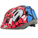 Raleigh Boy's Mystery Spiderman Cycle Helmet - Red/Blue, 52-57 cm