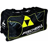 Fischer Hockey Junior Pro Player Wheel Bag, Black With Sulfur