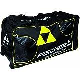 Fischer Hockey Senior Pro Player Wheel Bag, Black With Sulfur