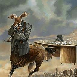 30W x 30H Wall Street Centaur by Andrã© Pijet - Stretched Canvas w/ BRUSHSTROKES